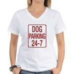 Dog Parking Women's V-Neck T-Shirt