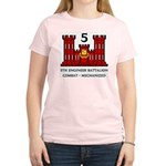 5th Engineer Battalion Women's Pink T-Shirt
