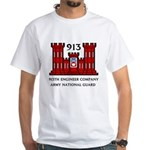 913th Engineer Company White T-Shirt