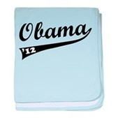 Obama 2012 Swish baby blanket