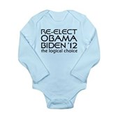 Logical Obama 2012 Long Sleeve Infant Bodysuit