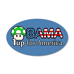 Obama 1up for America 35x21 Oval Wall Decal