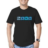Obama Elements Men's Fitted T-Shirt (dark)