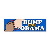 Fist Bump for Obama Car Magnet 10 x 3
