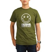 Obama Makes Me Smile Organic Men's T-Shirt (dark)