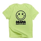 Obama Makes Me Smile Infant T-Shirt