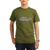 I Believe in Obamagic Organic Men's T-Shirt (dark)