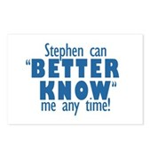 Stephen Can Better Know Me Postcards (Package of 8