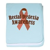 Rectal Dyslexia Awareness baby blanket