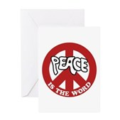 Peace is the word Greeting Card