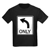 Left Only Kids Dark T-Shirt