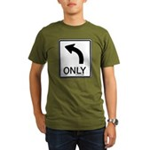 Left Only Organic Men's T-Shirt (dark)