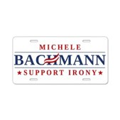 Anti-Bachmann Irony Aluminum License Plate