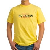 Funny Bachmann Toothpaste Yellow T-Shirt