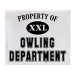 Property of Owling Dept Throw Blanket