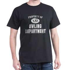 Property of Owling Dept Dark T-Shirt