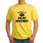 Property of Owling Dept Yellow T-Shirt
