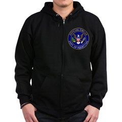 Official Owling Dept Seal Zip Hoodie (dark)