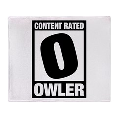 Content Rated Owler Throw Blanket