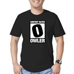 Content Rated Owler Men's Fitted T-Shirt (dark)