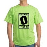 Content Rated Owler Green T-Shirt