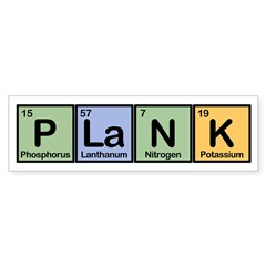 Plank made of Elements Sticker (Bumper)