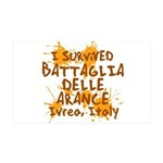 Ivrea Battle Of The Oranges Souvenirs Gifts Tees 38.5 x 24.5 Wall Peel