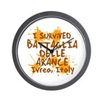 Ivrea Battle Of The Oranges Souvenirs Gifts Tees Wall Clock