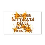 Ivrea Battle Of The Oranges Souvenirs Gifts Tees Car Magnet 20 x 12