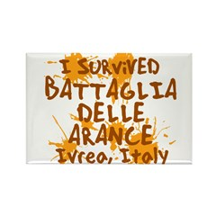 Ivrea Battle Of The Oranges Souvenirs Gifts Tees Rectangle Magnet
