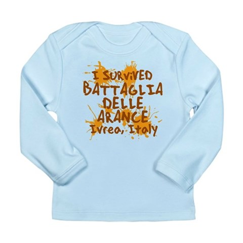 Battle of Oranges Long Sleeve Infant T-Shirt