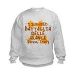 Ivrea Battle Of The Oranges Souvenirs Gifts Tees Kids Sweatshirt