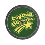 Captain Obvious Wall Clock