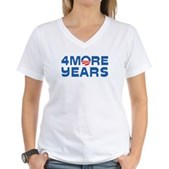 4 More Years Women's V-Neck T-Shirt