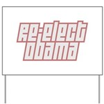 A modern text design that reads Re-Elect Obama in interlocking block letters. Show your support for President Obama in modern style.