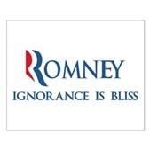 Anti-Romney Ignorance Small Poster