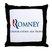 Anti-Romney Corporations Throw Pillow
