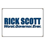 Worst. Governor. Ever. You need not say more with this bold anti-Rick Scott design. A lot of people would like to recall or impeach the Florida Republican, and you're one of them.