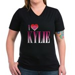 I Heart Kylie Women's V-Neck Dark T-Shirt