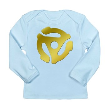 Gold 45 RPM Adapter Long Sleeve Infant T-Shirt