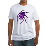 Purple Spider Fitted T-Shirt