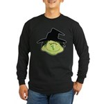 Happy Green Witch Long Sleeve Dark T-Shirt