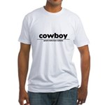 generic cowboy costume Fitted T-Shirt