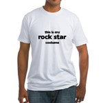 this is my rock star costume Fitted T-Shirt