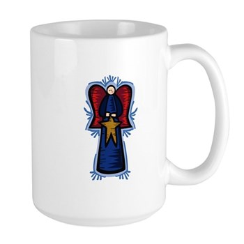 Angel with Star Large Mug