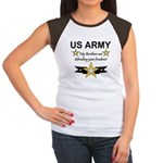 Army Brothers Defending Freed Women's Cap Sleeve T