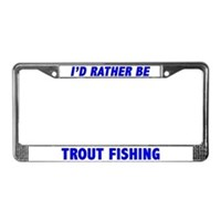 Trout Fishing License Plate Frames