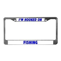 Fishing License Plate Frames
