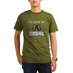 I'd Rather Be Birding Organic Men's T-Shirt (dark)