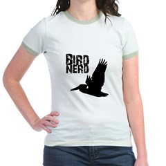 Bird Nerd (Pelican) Jr. Ringer T-Shirt